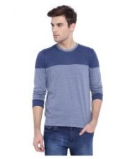 Campus Sutra Blue Round T Shirt for Rs. 521
