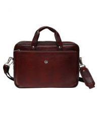 Buy Hammonds Flycatcher Brown Leather Office Bag from SnapDeal
