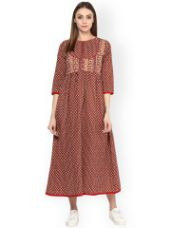 Get 75% off on Cotton Printed Maxi Dress