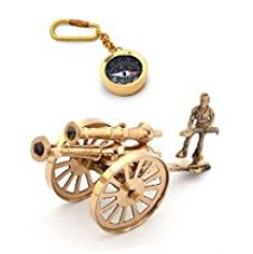 Buy Little India Combo of Canon Handicraft and Compass Keychain (Brown) from Amazon
