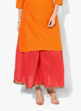 Buy Biba Red Solid Fit Palazzo for Rs. 600