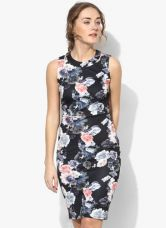 Dorothy Perkins Black Coloured Printed Bodycon Dress for Rs. 1643
