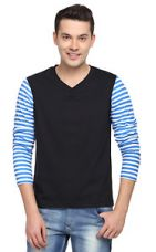 Buy Trendy Tees - Stripped Vneck Full Sleeve Men T-shirt from Ebay