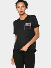 Reebok Women Black Printed Regular Fit Dance T-shirt for Rs. 1,999
