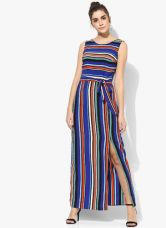 Buy Dorothy Perkins Brightly Coloured Maxi With A Flattering 'V' Back And A Tie Waist- Perfect For A Summer Bbq 149Cm for Rs. 1474