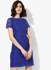 Buy Dorothy Perkins Blue Coloured Solid Shift Dress for Rs. 1445