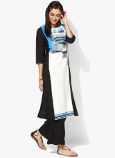 Buy W White Printed Polyester Kurta for Rs. 910
