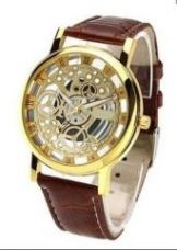 Flat 66% off on New Brown Open Time Super Stylish Wrist Watch For Men Women