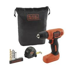 BLACK + DECKER BDCD8GPA 7.2V Li-Ion Cordless Drill Kit (Orange, 14-Pieces) for Rs. 2,799