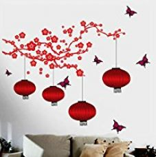 Decals Design 'Chinese Lamps in Double Sheet' Wall Sticker (PVC Vinyl, 90 cm x 60 cm) for Rs. 514
