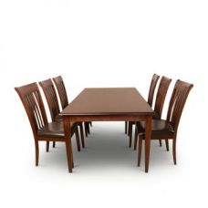 Buy Linda Six Seater Dining Set Walnut for Rs. 49,900