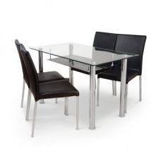 Buy Vento Four Seater Dining Set Black for Rs. 14,900