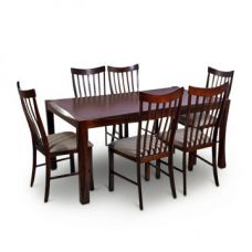 Buy Parker Six Seater Dining Set Brown for Rs. 42,900