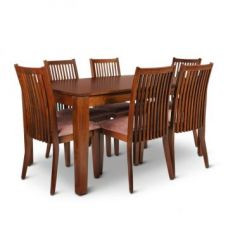 Get 55% off on Metro Six Seater Dining Set Brown