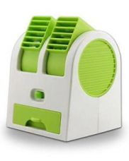 Buy Mini Small Fan Cooling Portable Desktop Dual Bladeless Air Cooler USB from Ebay