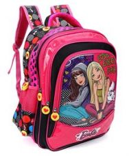 Buy Barbie And Blissa School Bag Pink & Black - 16 inches for Rs. 1139