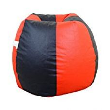 Flat 65% off on Orka XL Bean Bag Cover - Red and Black
