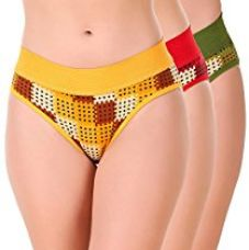 Buy Masha Women Printed Multicolor Bikini Panties from Amazon