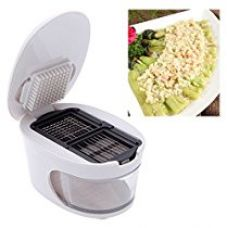 Buy 3 in 1 Plastic Garlic Press Presser Garlic Crusher Slicer Grater Dicing and Storage Kitchen Tool from Amazon