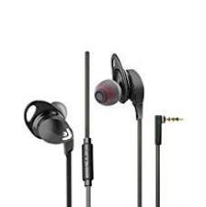 Envent Beatz 302-Black Wired Flat Cabled Earphone with Mic for Rs. 499