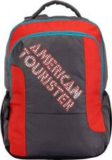 Buy American Tourister AMT CRUNK 2017 21 L Backpack  (Grey, Red) for Rs. 1,148