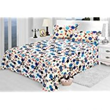 Jaipuri Bedsheets (Cotton Double Bedsheet For Double Bed With 2 Pillow Covers)-By Cloth Fusion for Rs. 499