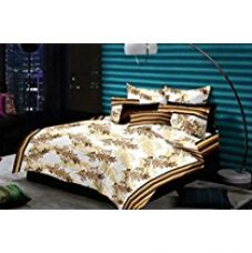Buy Cloth Fusion Designed Premium Cotton Double Bedsheet With 2 Pillow Covers from Amazon
