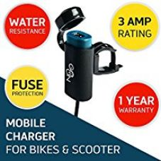 Cingularity CG-102 Go-On G1 USB Mobile Charger for Bikes and Scooters (Black) for Rs. 658
