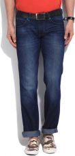 Buy Wrangler Regular Men's Dark Blue Jeans for Rs. 957