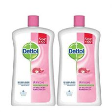 Dettol Skincare Liquid Soap Jar - 900 ml (Pack of 2) for Rs. 326
