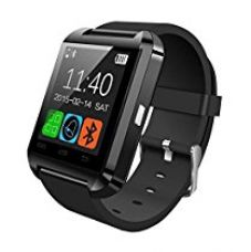 Buy Felix U8 Bluetooth smart watch Compatible with IOS and Android (Black) from Amazon