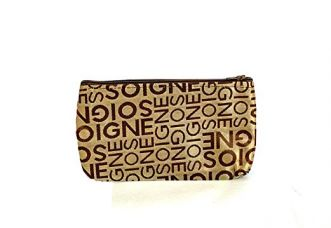 Di Grazia Travel Cosmetic Pouch, Makeup Toiletry Organizer Kit - Gold for Rs. 149