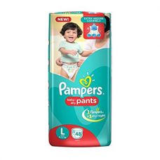 Buy Pampers New Large Size Diapers Pants (48 Count) from Amazon