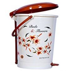 Logic Bud & Flower Printed Large Paddle Dustbin - 1 Piece for Rs. 429