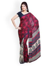 Buy Crepe Printed Saree for Rs. 359