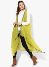 Flat 30% off on W Green Polyester Shrug