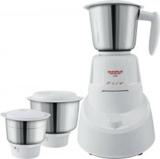 Flat 55% off on Maharaja Whiteline Neo (MX-147) 500 W Mixer Grinder  (White, 3 Jars)