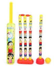 Buy Doraemon 4 Wicket Cricket Set - Green Yellow for Rs. 395