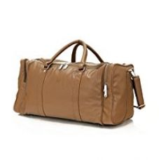 Buy Mboss Faux Leather 30 Ltr Beige Travel Duffles from Amazon