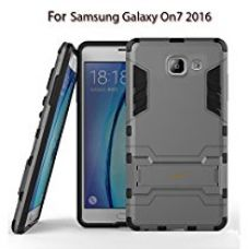 Heartly Graphic Designed Armor Back Case For Samsung Galaxy On7 (2016) / Samsung Galaxy J7 Prime Sm-G610F / Samsung Galaxy On Nxt - Metal Grey for Rs. 379