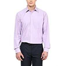 Buy American Crew Men's Full Sleeve Solid Dark Pink Shirt With Pocket - 40 (ACX50-40) from Amazon