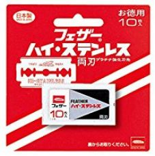 Buy Feather Original Packing Double Edge Razor Blades - 10 Blades - Made In Japan from Amazon