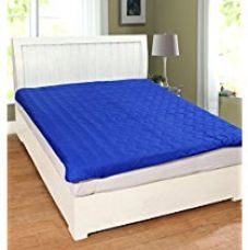 Warmland Polycotton Double Mattress Protector - Blue for Rs. 679