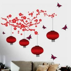 Buy WallTola Chinese Lamps In - Double Sheet Wall Sticker from Paytm