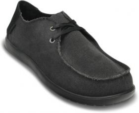 Buy Crocs Santa Cruz 2-eye Canvas Shoe Boat Shoe  (Black) from Flipkart