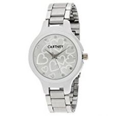 Buy Cartney Analogue Off-White Dial Girl's & Women's Watch -Ch5574 from Amazon