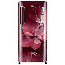 LG 190 L 4 Star Direct-Cool Single Door Refrigerator (GL-B201ASDX.ASDZEBN, Scarlet Dazzle, Inverter Compressor) for Rs. 16,190