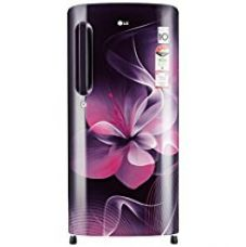 Buy LG 190 L 4 Star Direct-Cool Single Door Refrigerator (GL-B201APDX.APDZEBN, Purple Dazzle, Inverter Compressor from Amazon