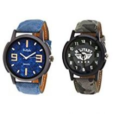 Buy Relish Casual Wrist Watch Combo - Pack of 2 from Amazon
