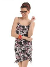 Buy The Vanca Off-White Printed Shift Dress for Rs. 524